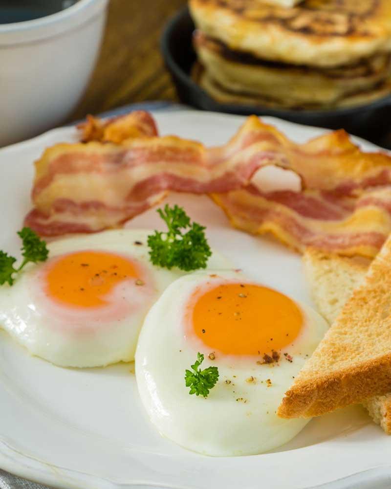 Frühstücksmenu